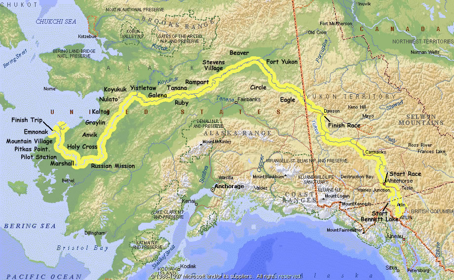 Map Of Canada Yukon River.Yukon River Quest Race Canoeing Kayaking Other Adventures